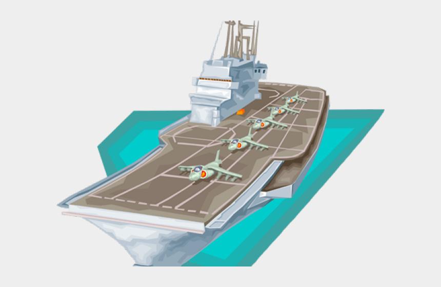 aircraft carrier clip art, Cartoons - Aircraft Carrier Clipart - Supercarrier