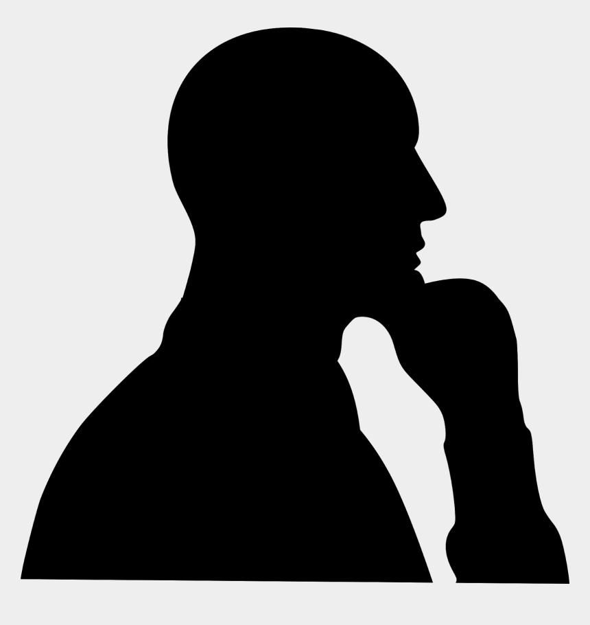 thinking man clip art, Cartoons - Man, Thinking, Silhouette, Thinking Man, Male, Man - Man Thinking Silhouette Png