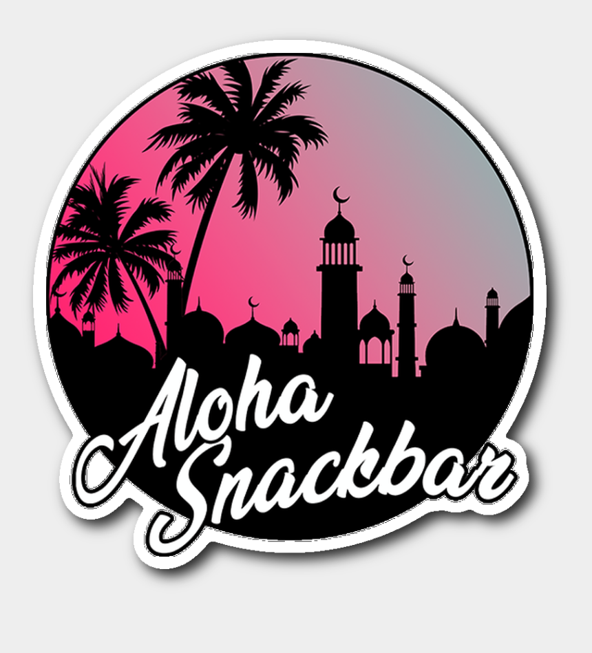 snack bar clip art, Cartoons - Palm Tree Stickers For Water Bottles