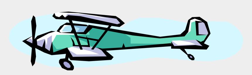 biplane clip art, Cartoons - Vector Illustration Of Biplane Fixed-wing Aircraft