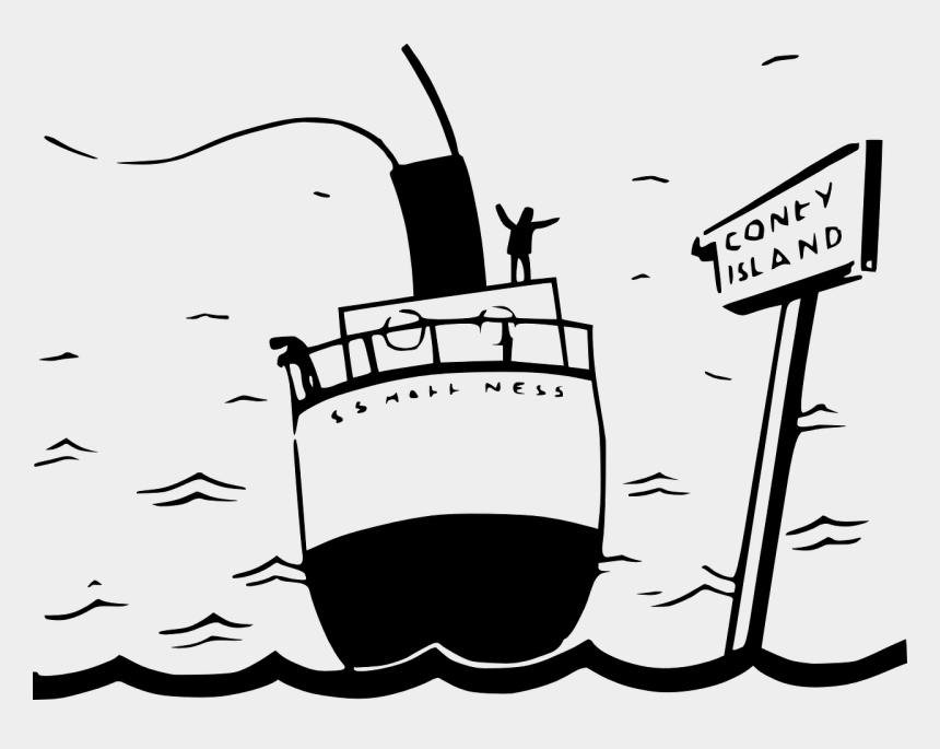 cruise boat clip art, Cartoons - Cruise Ship Cruise Water Free Picture - Black And White Cartoon Of A Ship