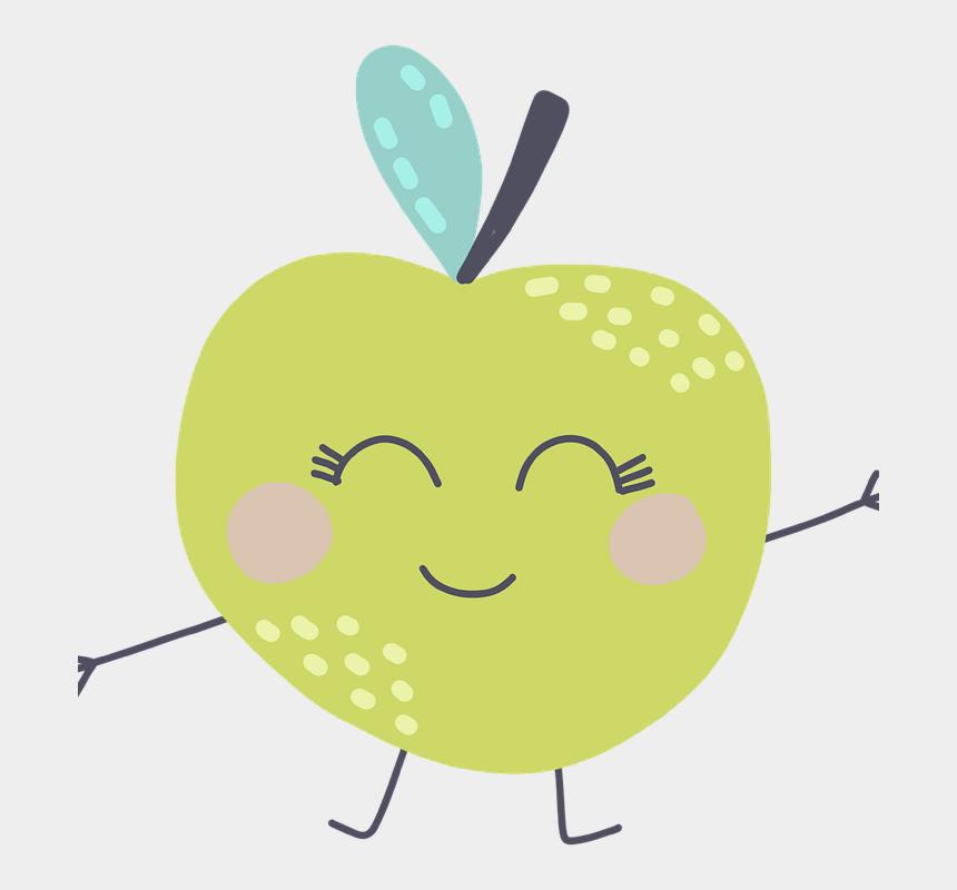 apple orchard clip art, Cartoons - Apple, Green, Fruit, Apples, Food, Orchard, Summer - Illustration