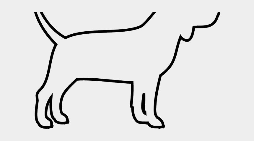 car outline clip art, Cartoons - Side Drawing Of Dog