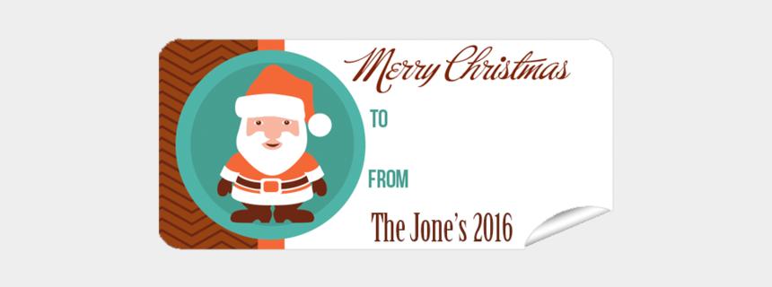 christmas gift tags clipart, Cartoons - Gift Label Christmas