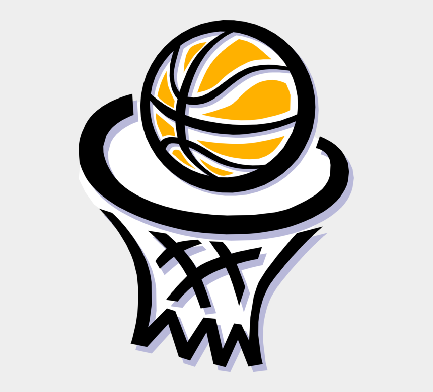 basketball and net clipart, Cartoons - Vector Illustration Of Sport Of Basketball And Hoop - Cartoon Basketball And Volleyball
