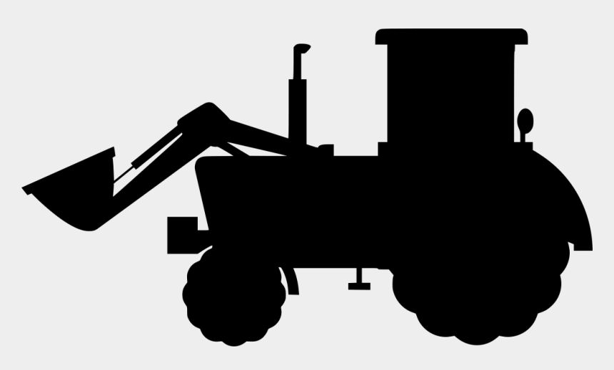 tractor silhouette clip art, Cartoons - Farmland Vector Farming Machinery - Farm Tractor Png