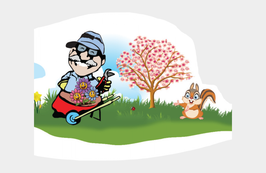 yard tools clip art, Cartoons - Cartoon Apple Blossom Tree