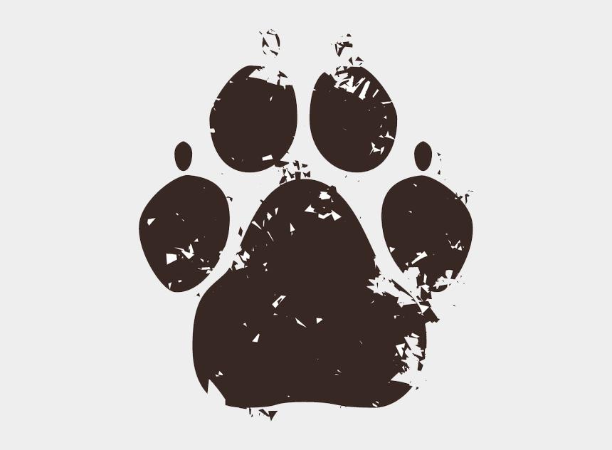 dog chasing cat clip art, Cartoons - Red Glitter Paw Print