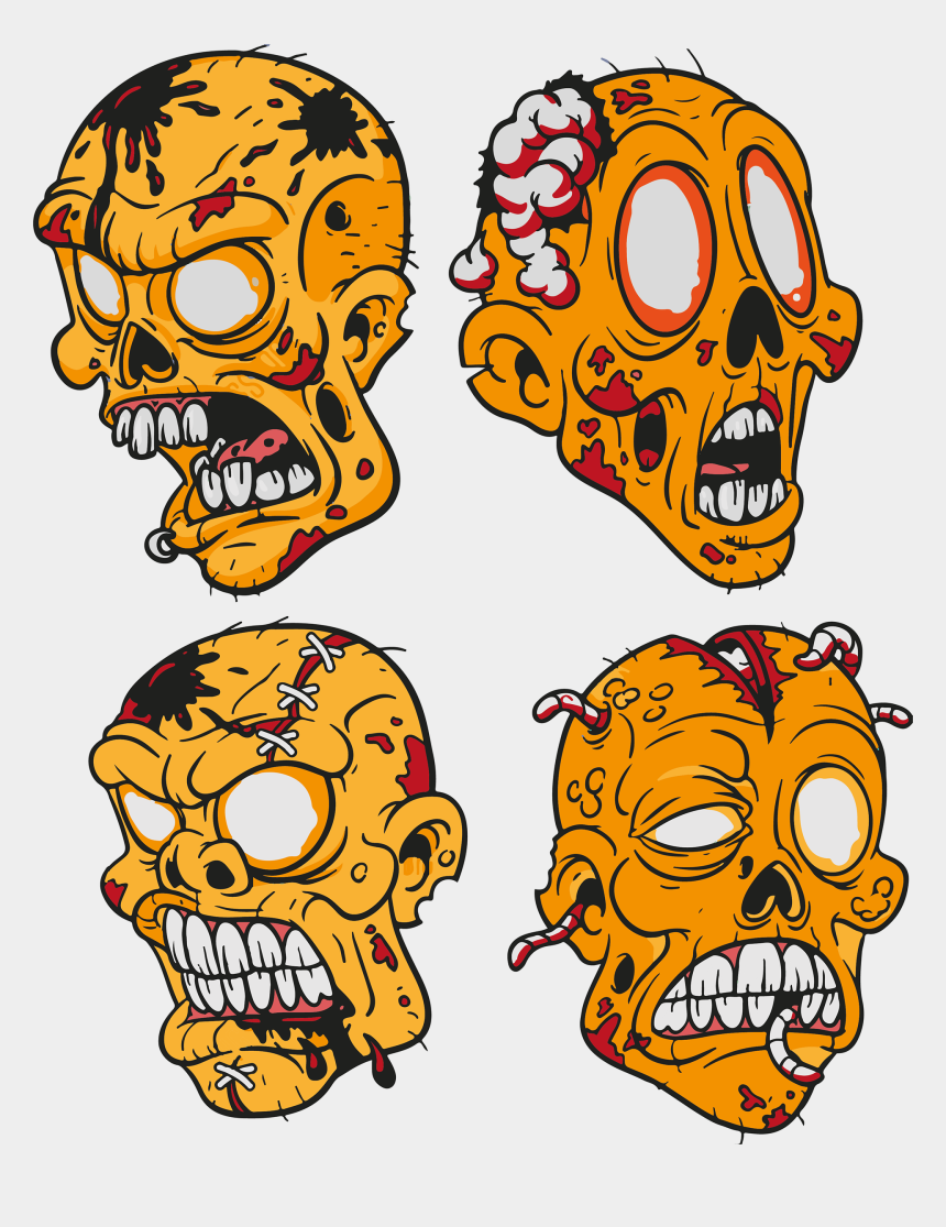 zombie head clip art, Cartoons - Cartoon Zombie Tattoo Design