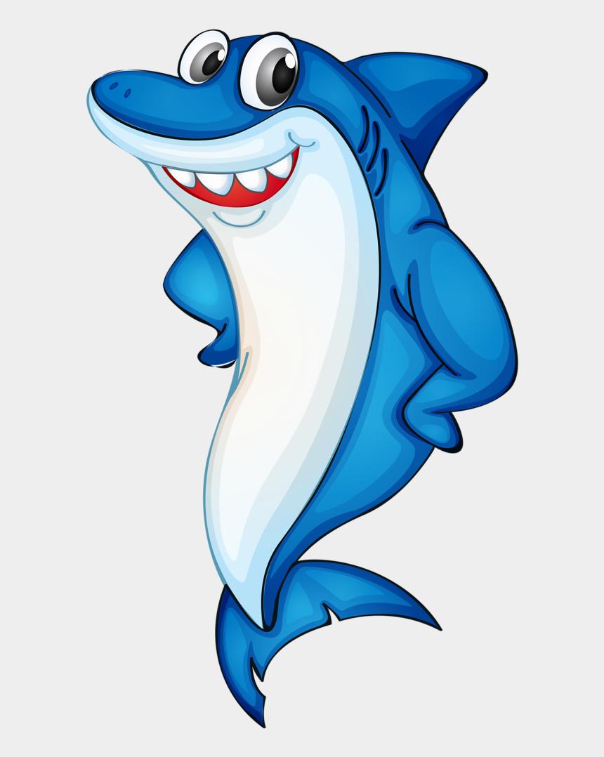 shark clipart, Cartoons - Baby Shark Clipart Little Cartoon - Baby Shark