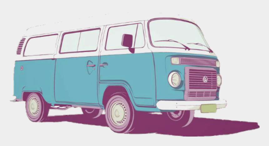 van clipart, Cartoons - Hippie Clipart Van - Sticker Tumblr Transparent Car