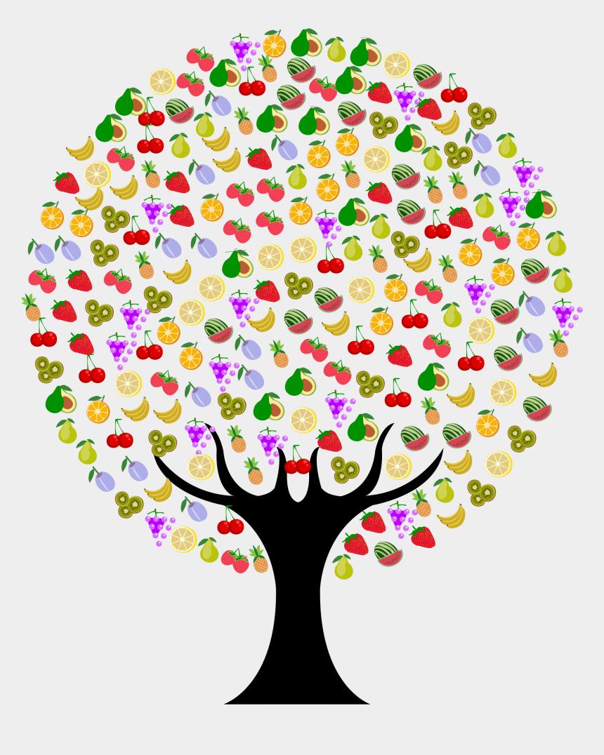 fruit clipart, Cartoons - Clipart Tree Fruit - Arvore De Frutas Png