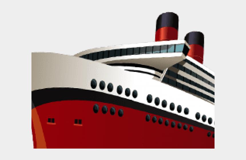 ship clipart, Cartoons - Cruise Ship Clipart Red - Cruise Ship Captain Clipart