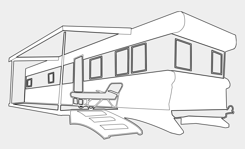 home clipart, Cartoons - Mobile Home Clipart Free - Mobile Home Clipart Black And White