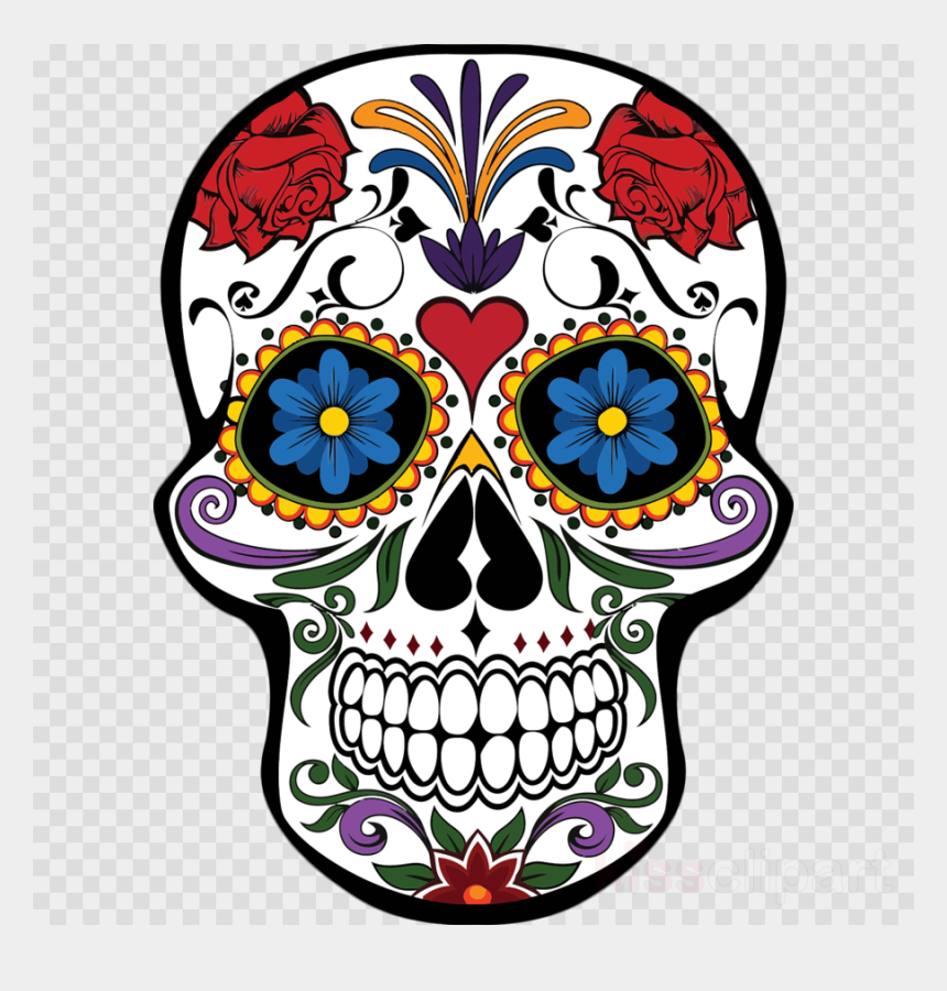 skull clipart, Cartoons - Mexican Day Of The Dead Skull Clipart Day Of The Dead - Day Of The Dead Skulls Png