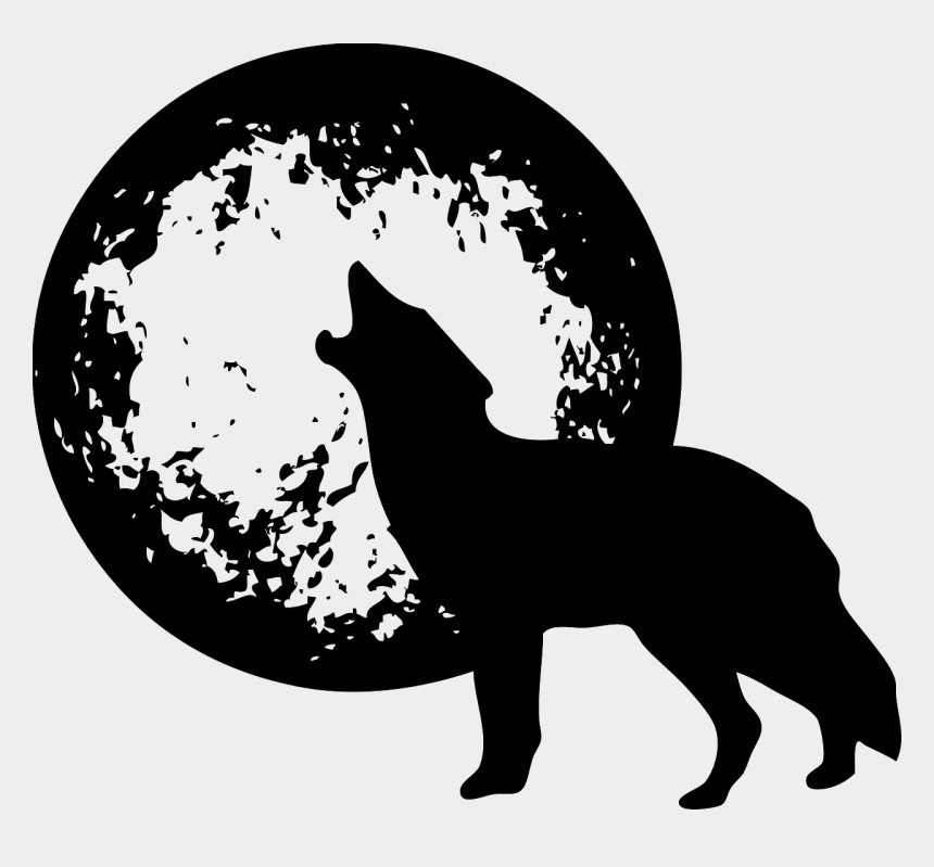 wolf clipart, Cartoons - Wolf And Moon Png
