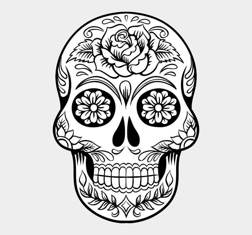 Skulls - Printable Sugar Skull Colouring Pages, Cliparts ...