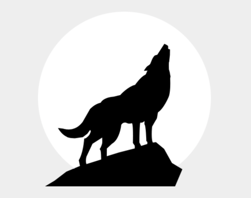 wolf clipart, Cartoons - Howling Coyote Clip Art Clipart - Howling Wolf Silhouette Png