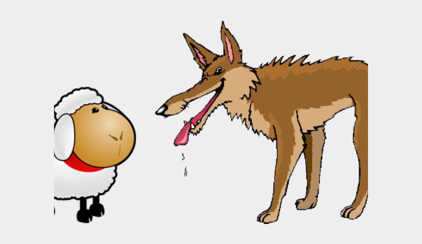wolf clipart, Cartoons - Wolf Clipart Fable - Wolf And The Crane