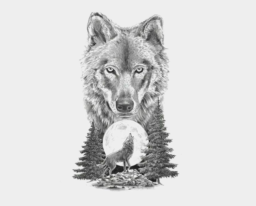 wolf clipart, Cartoons - Gray Sketch Art Tattoo Artist Motion Wolf Clipart - Wolf Tattoo Design
