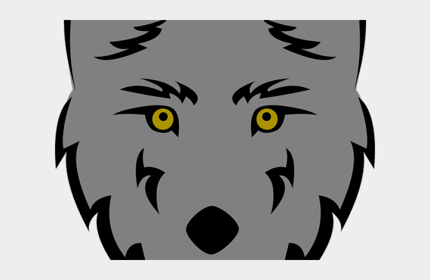 wolf clipart, Cartoons - Gray Wolf Clipart Wolf Silhouette - Easy Wolf Face Drawing
