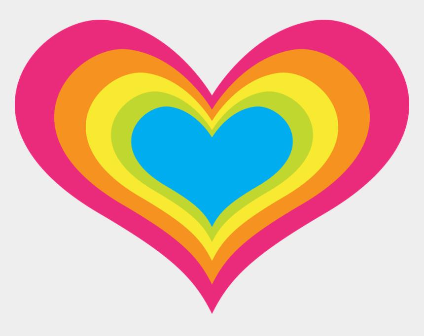 rainbow clipart, Cartoons - Hearts ‿✿⁀♡♥♡❤ Rainbow Clipart, Clean Heart, I Love - Love Heart