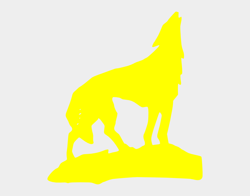 wolf clipart, Cartoons - Yellow Wolf