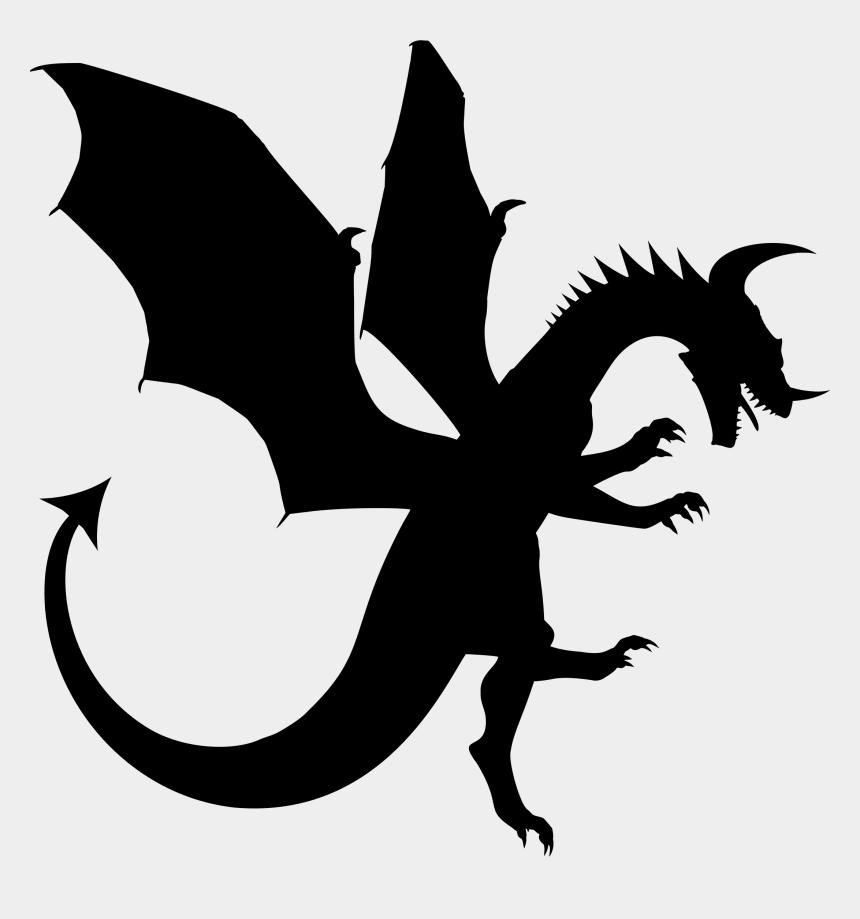 dragon clipart, Cartoons - Chinese Dragon Clipart Silhouette - Dragon Silhouette Clipart
