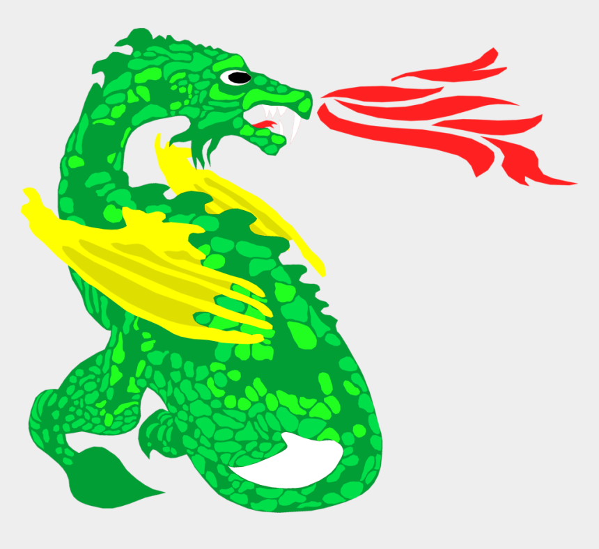 dragon clipart, Cartoons - Download - Komodo Dragons Breathing Fire