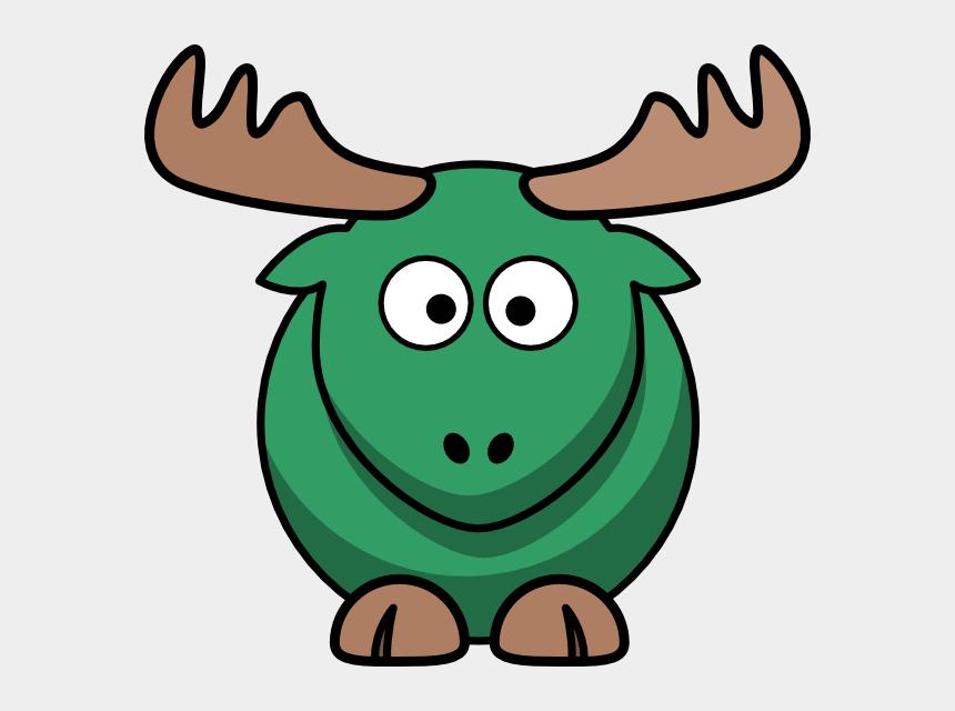 moose clipart, Cartoons - Dark Turquoise Moose Clip Art - Cartoon Elk