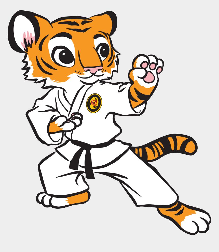 tiger clipart, Cartoons - Karate Tiger Clipart - Karate Kid Clipart