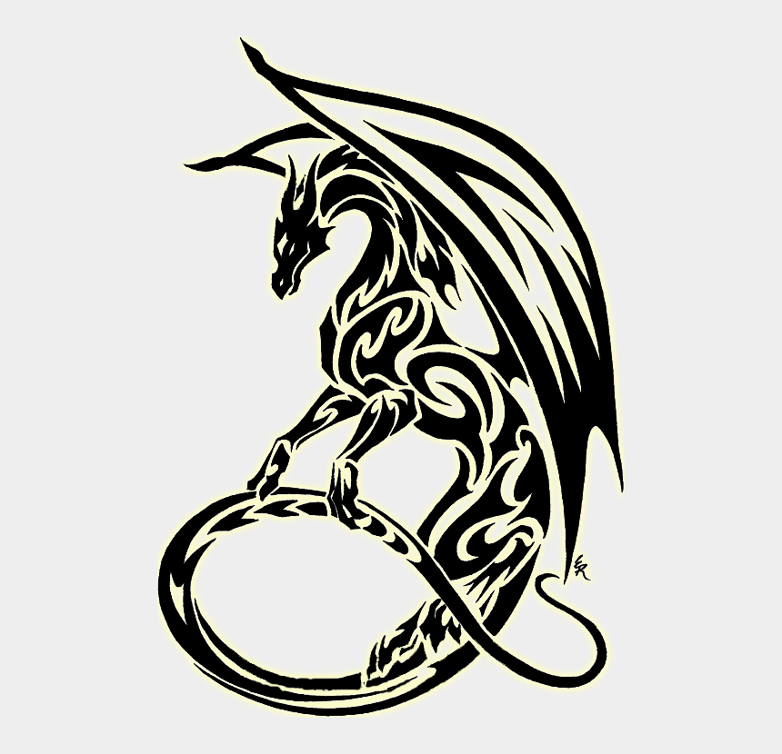 dragon clipart, Cartoons - Tribal Dragon Clipart - Tribal Dragon Clip Art
