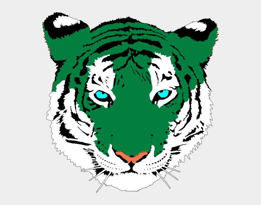 tiger clipart, Cartoons - Green Tiger Png - Blue Tiger Paw Png