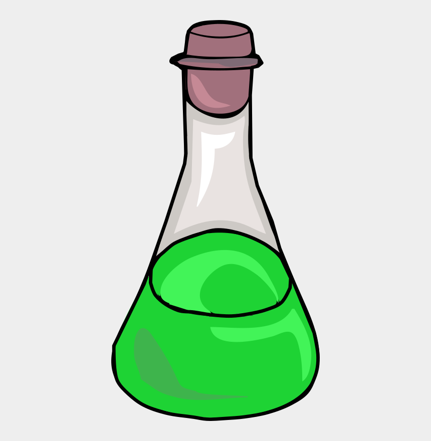 science clipart, Cartoons - Clipart Green Science Bottle - Science Bottle Png