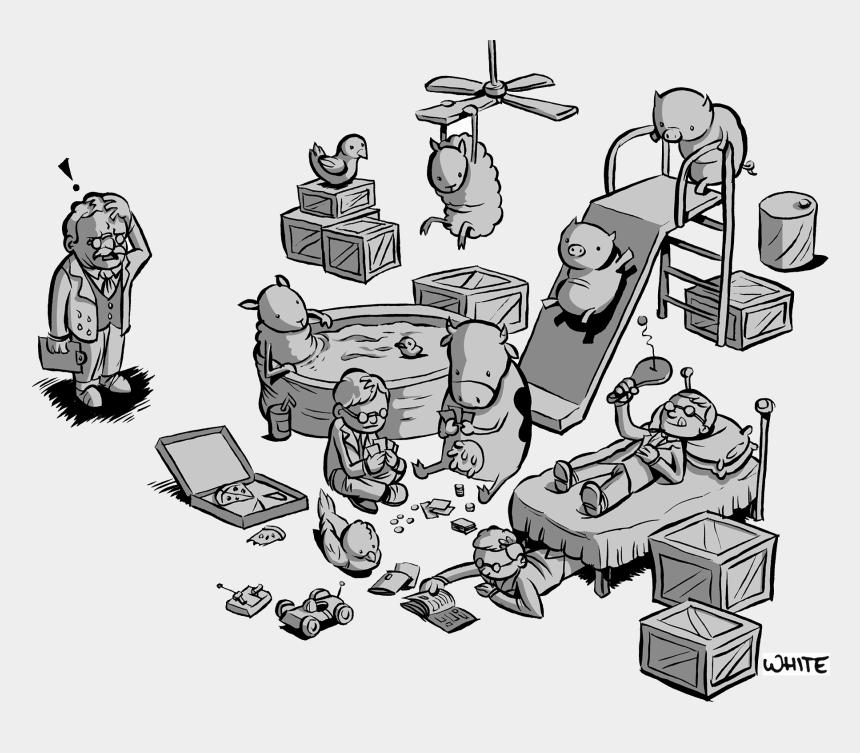 jungle clipart, Cartoons - President Theodore Roosevelt - Upton Sinclair The Jungle Illustration