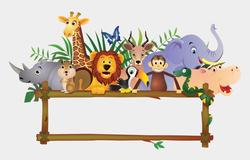 jungle clipart, Cartoons - Baby Farm Animals Jungle Royalty-free Free Transparent - Jungle Animals Border Clipart