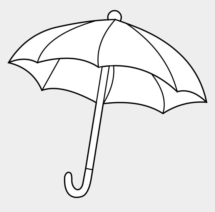 Umbrella Coloring Page Free Clip Art Clipart Black White