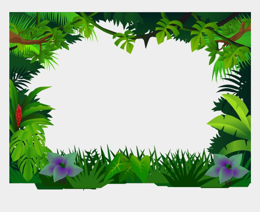 jungle clipart, Cartoons - Jungle Border Clipart Jungle Clip Art - Jungle Frame Png