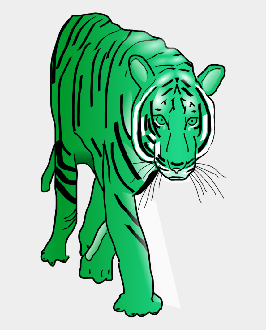 tiger clipart, Cartoons - Vector Clip Art - Walking Tiger Animated Gif