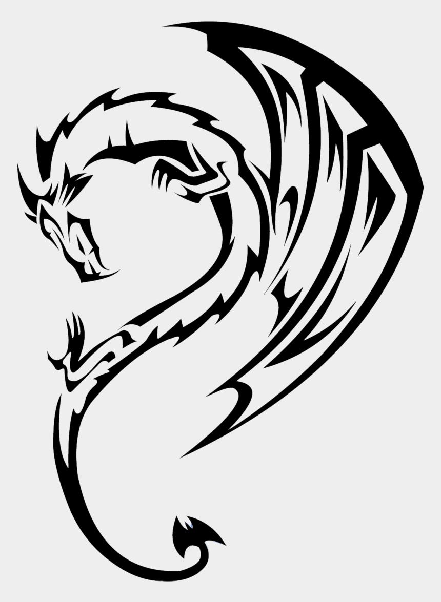 dragon clipart, Cartoons - Tattoo Tattoos Dragon Free Clipart Hq - Tribal Dragon