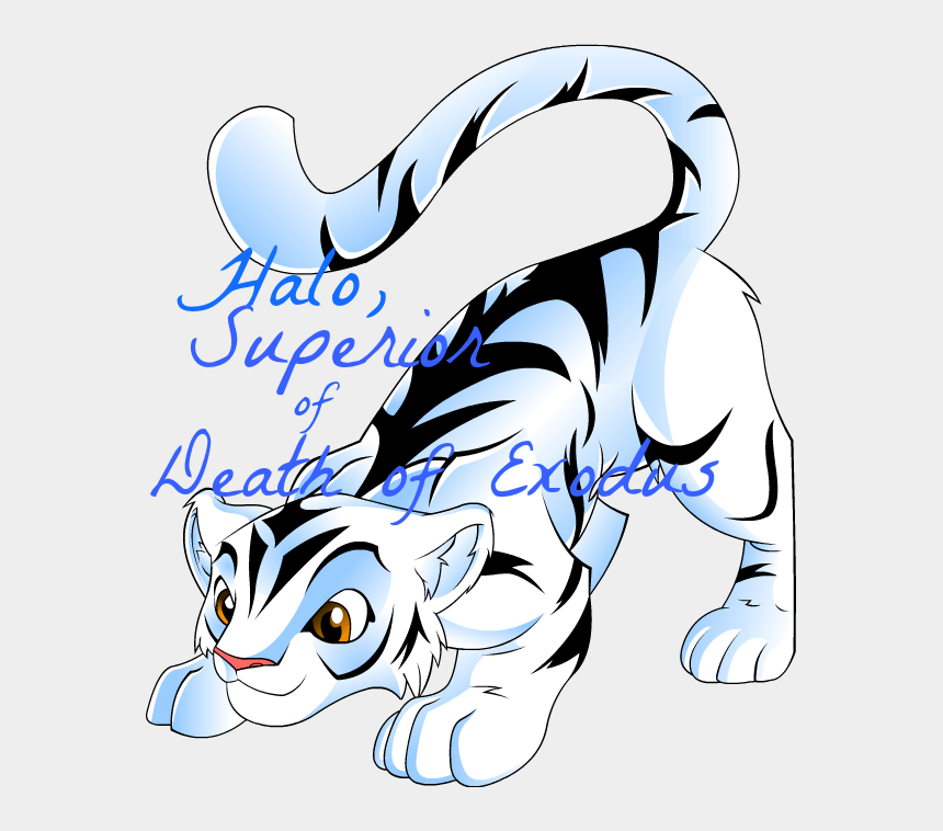 tiger clipart, Cartoons - White Tiger Clipart