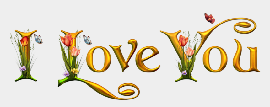 love clipart, Cartoons - I Love Clipart - Love You Png Text