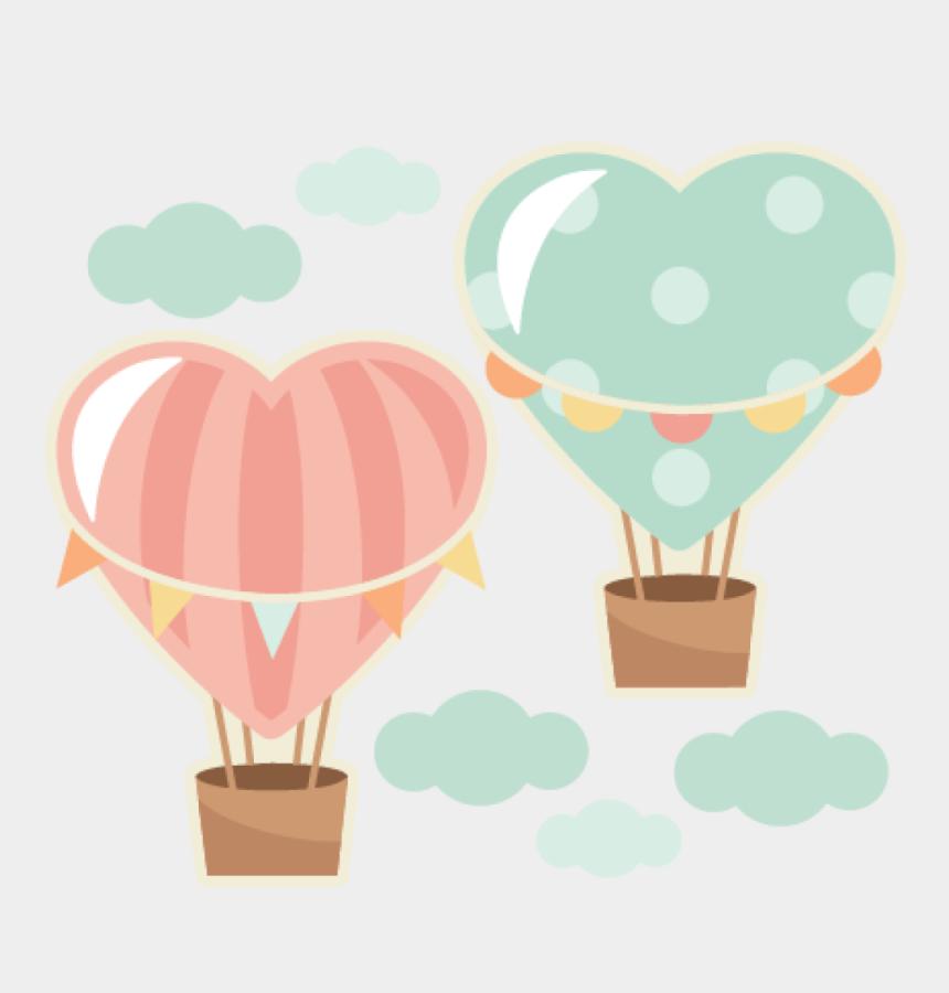 love clipart, Cartoons - Love Clipart Hot Air Balloon - Heart Balloon Hot Air Balloon