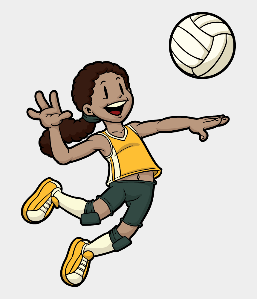 volleyball clipart, Cartoons - Volleyball Player - Playing Sports Clipart