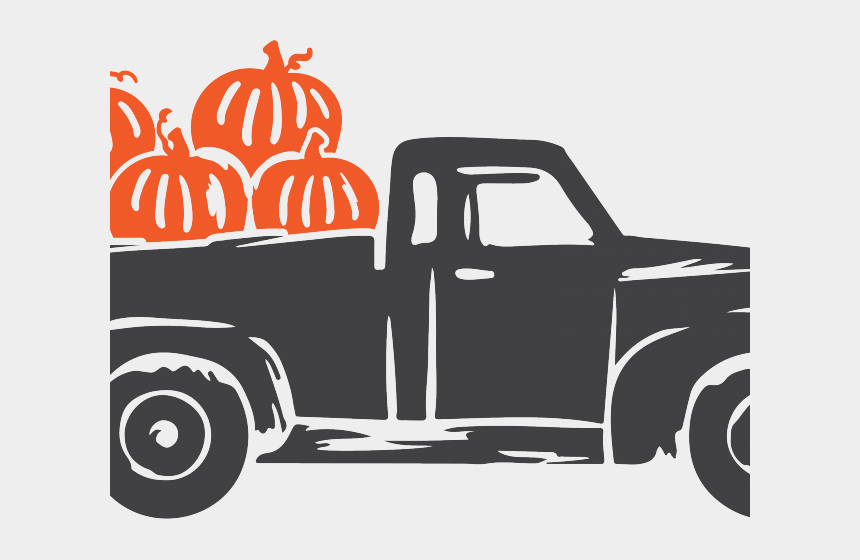 truck clipart, Cartoons - Truck Clipart Farm Truck - Truck With Pumpkins Svg