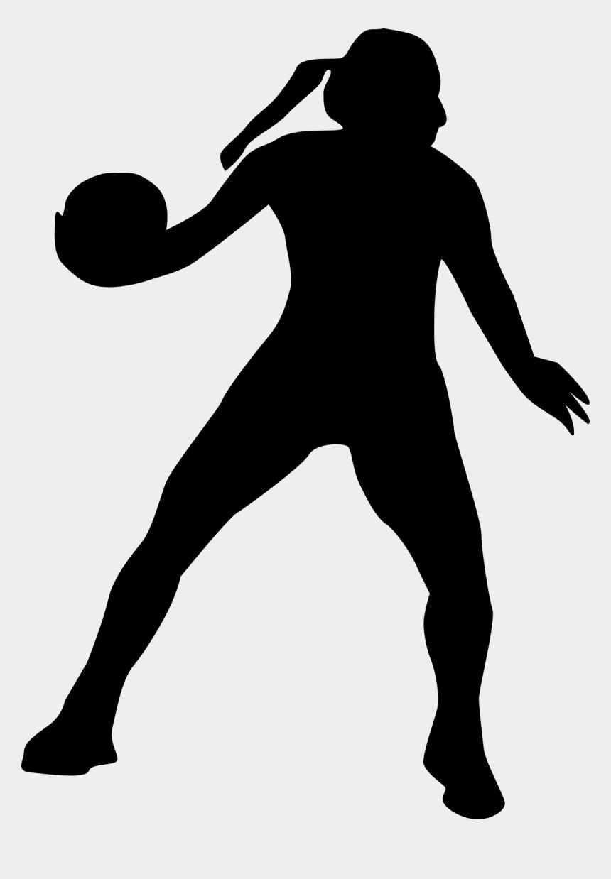 volleyball clipart, Cartoons - Handball Volleyball Sport Game Play Girl Woman - Netball Clip Art