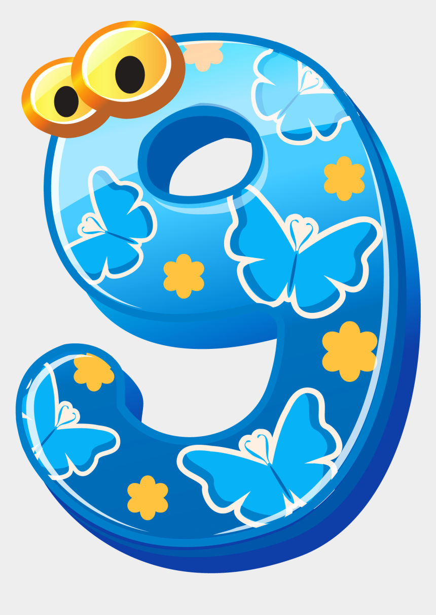 numbers clipart, Cartoons - Cute Numbers Clipart - Cute Number 9 Clipart
