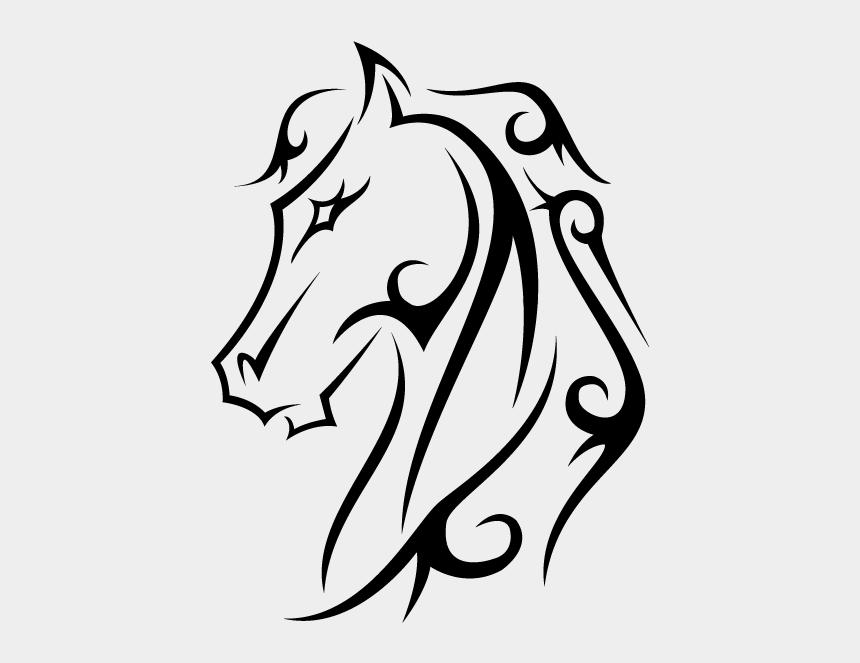 tribal horse head clip art, Cartoons - Horse Tattoo Designs