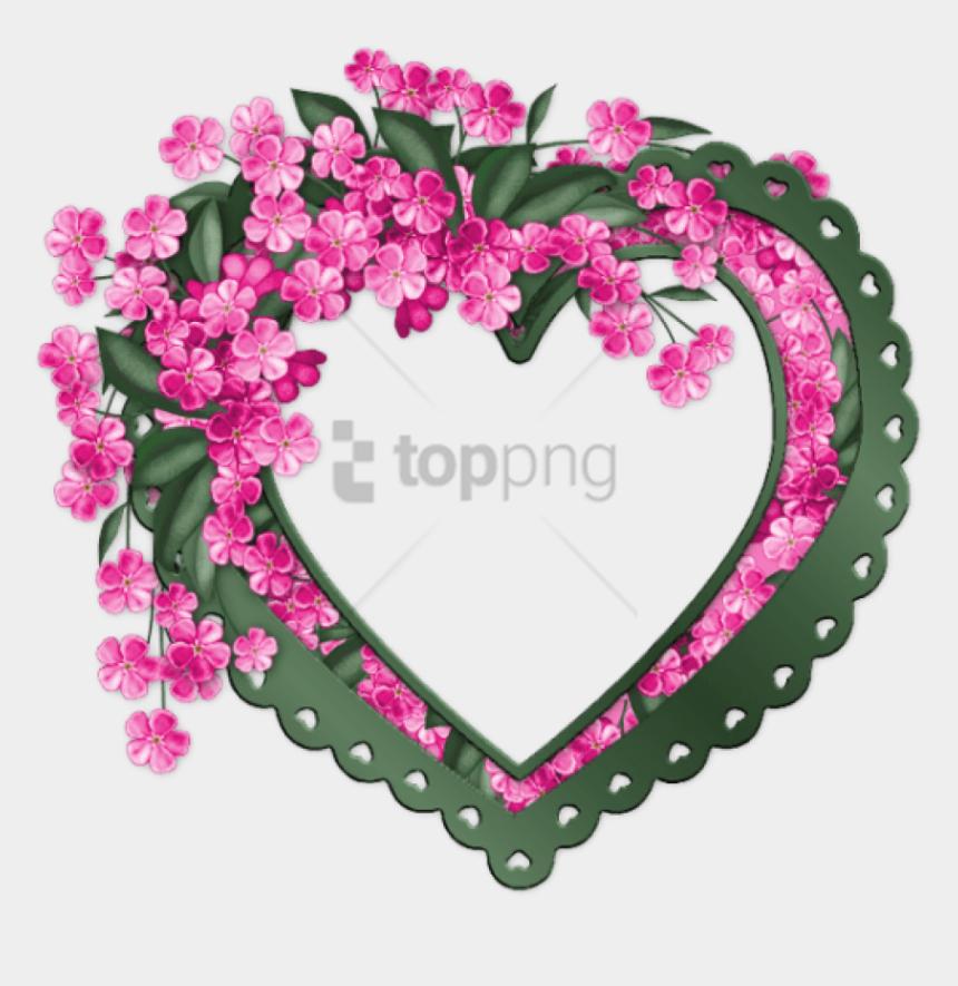 happy mothers day free clipart, Cartoons - Free Png Coeur Vert Avec Des Fleurs Roses - Joyeux Anniversaire Agnes Gif