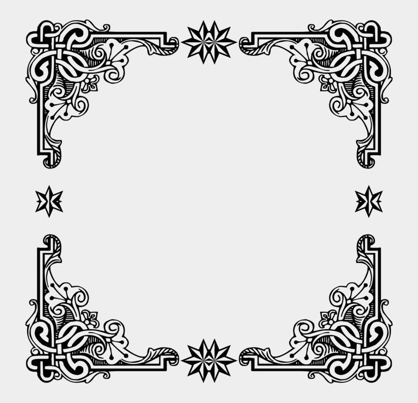 vintage circle border clip art, Cartoons - Picture Frame,art,symmetry - Vintage Black Frame Png